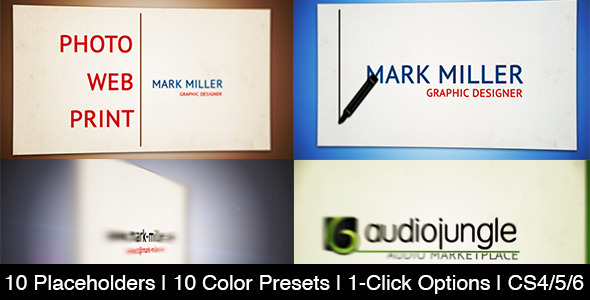 After Effects Project - VideoHive Web Business Card 2485512