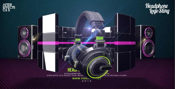 After Effects Project - VideoHive Headphone Logo Sting 2508675