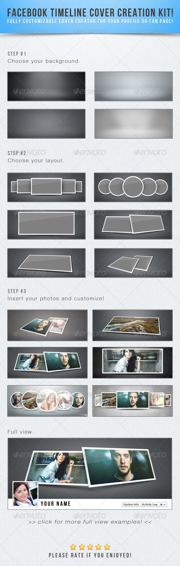 GraphicRiver Facebook Timeline Cover Creation Kit 2481733