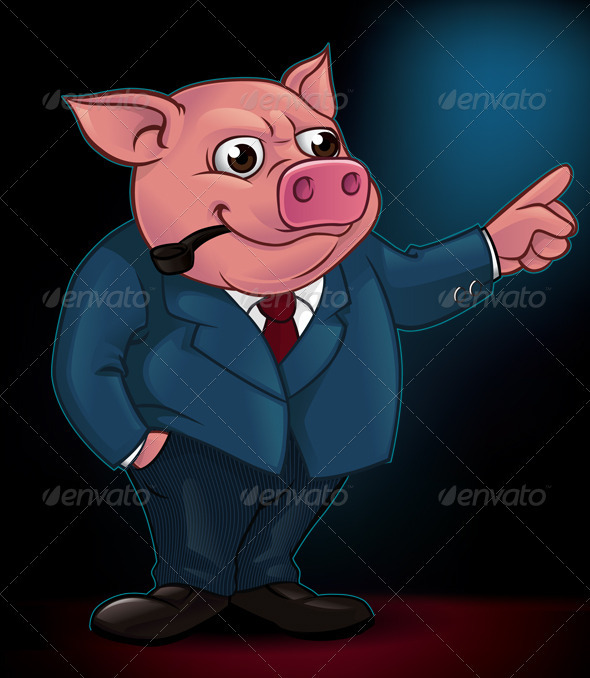 Pig bos - Animals Characters