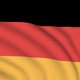 Germany seamlessly looping flag - VideoHive Item for Sale