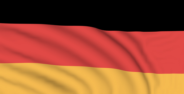 Germany seamlessly looping flag