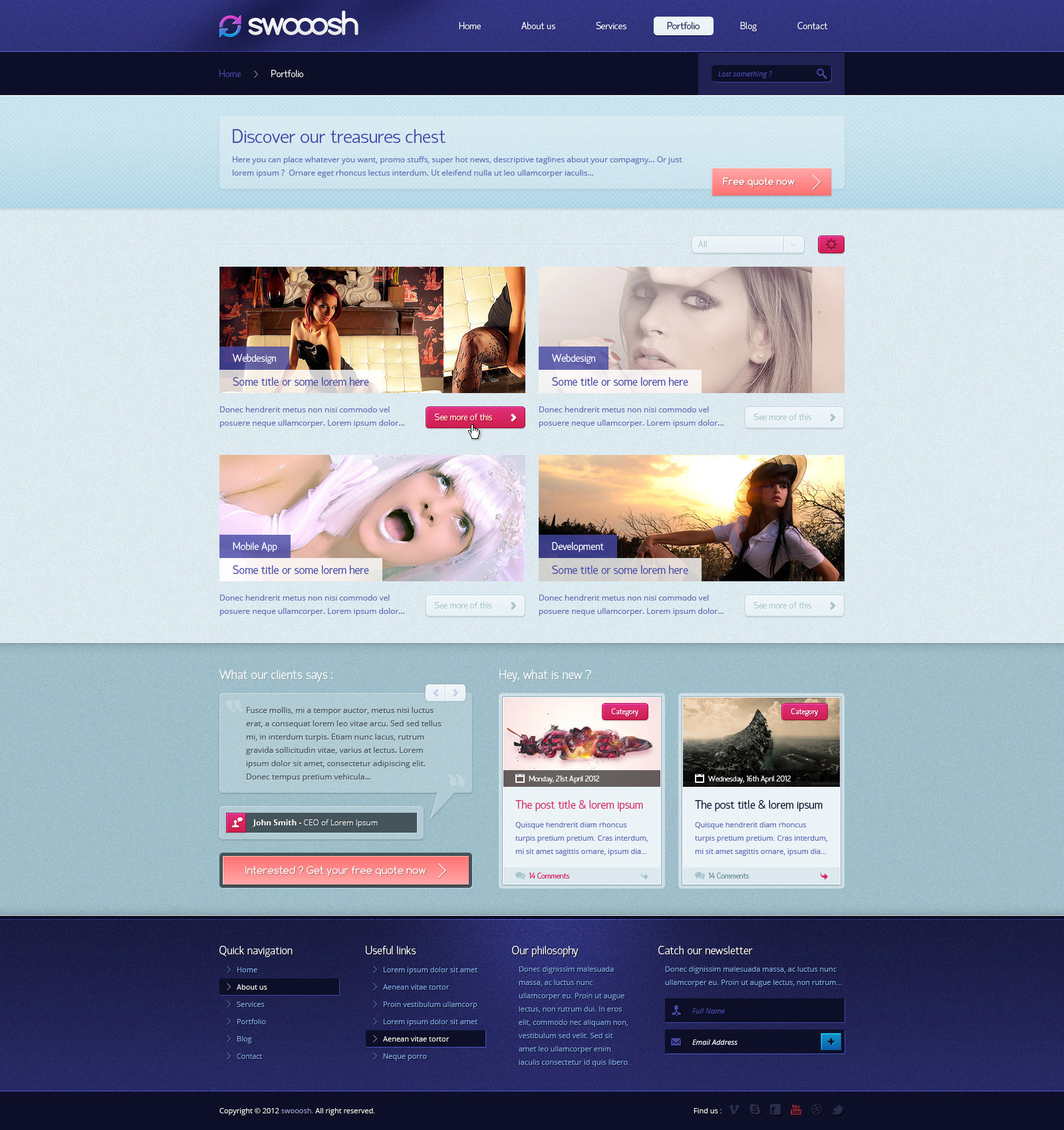 Swooosh - Multipurpose PSD Template
