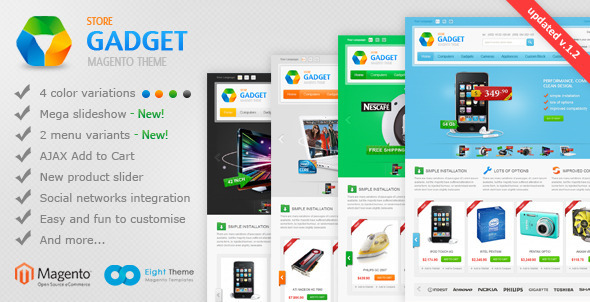ThemeForest Gadget Magento Theme 2243041