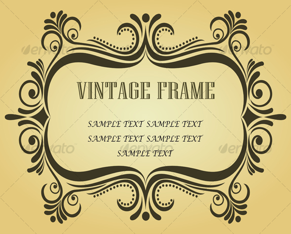 GraphicRiver Vintage frame in victorian style 91773