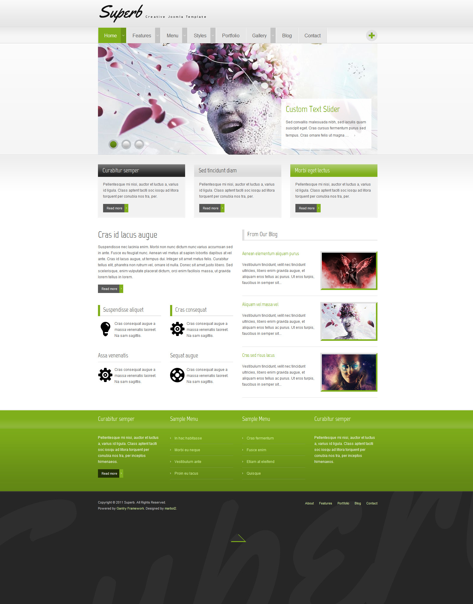 Superb - Creative Joomla Template