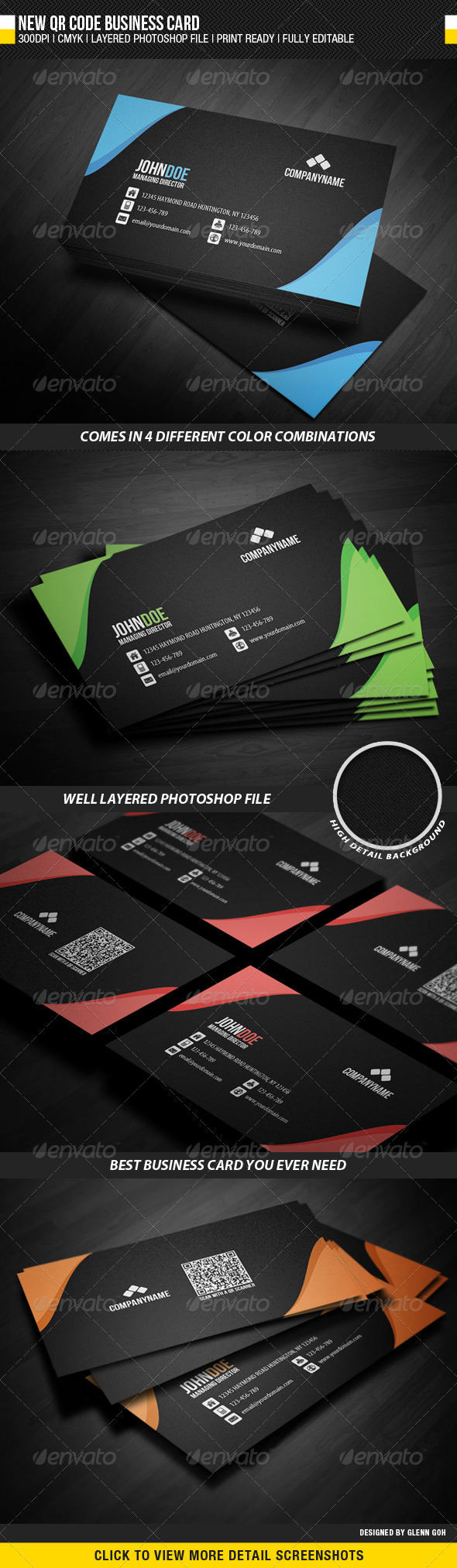 New QR Code Business Card - Corporate Business Cards