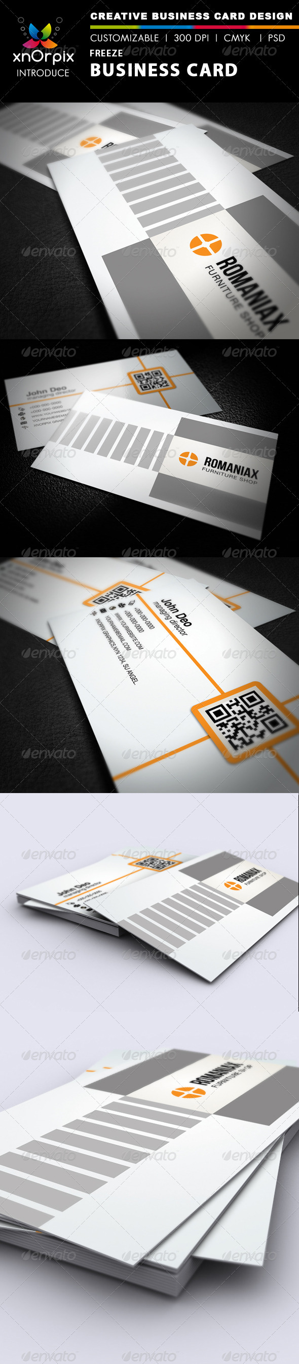 Freeze Business Card - Corporate Business Cards