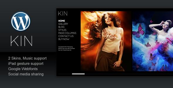KIN - Minimalist Photography WordPress Template - ThemeForest Item for Sale
