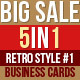 Retro Business Cards Bundle - GraphicRiver Item for Sale