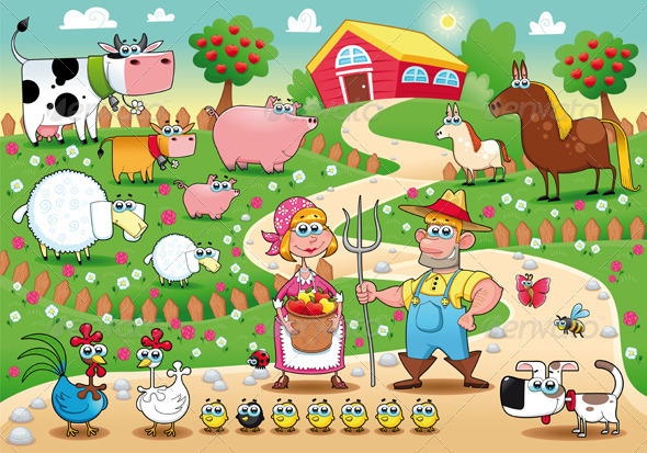 Farm Family. - Animals Characters