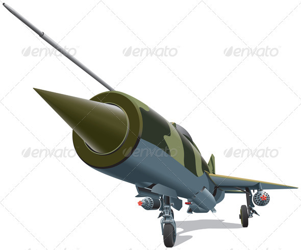 Old Jet-fighter - Objects Vectors