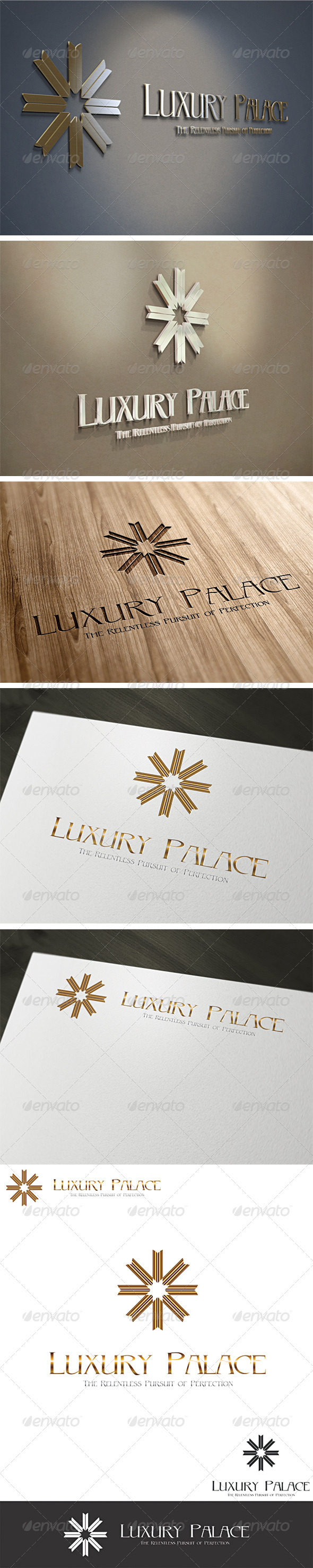 3D Luxury Hotels Logo Template V2 - 3d Abstract