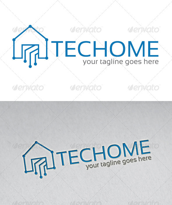 Techome Logo - Buildings Logo Templates