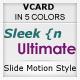 Sleek n Ultimate VCARD – IN 5 UNIQUE COLORS  Free Download