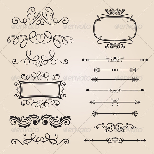 Classic Border Ornament - Decorative Vectors