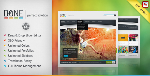 Done wordpress theme download