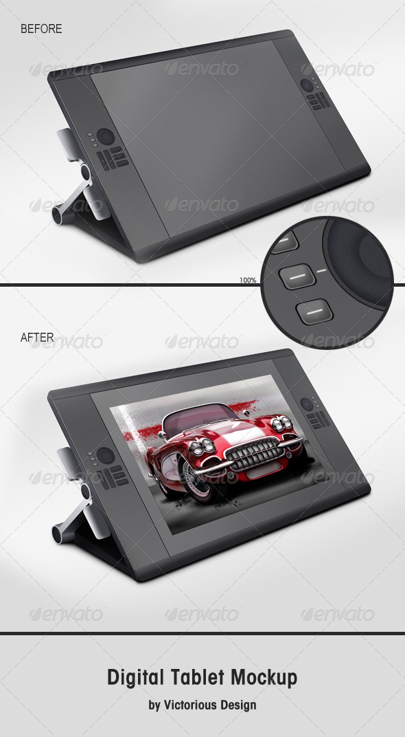 Digital Tablet Mockup - Mobile Displays