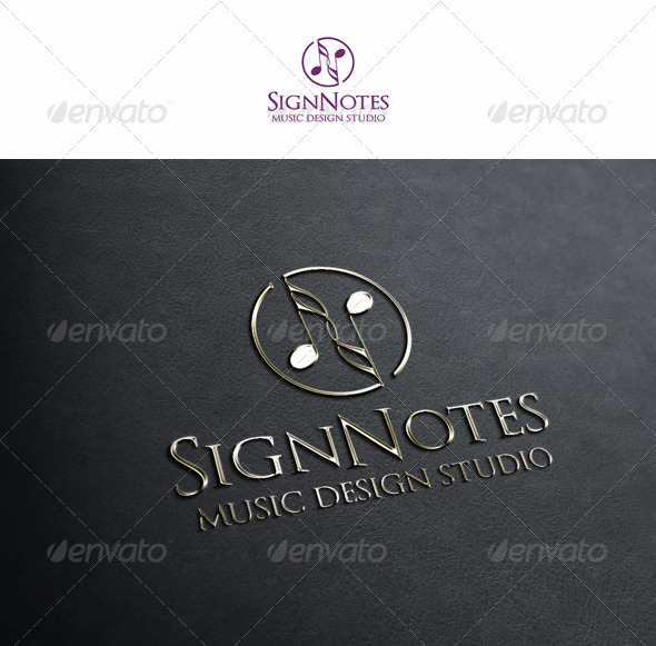 Sign Notes - Symbols Logo Templates