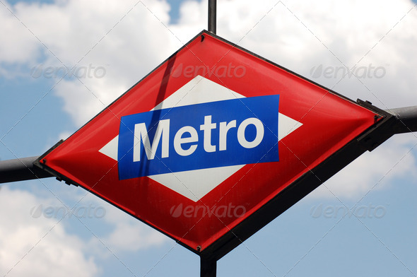 Metro Sign - Stock Photo - Images