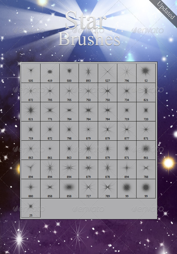 GraphicRiver Star Brushes 136655