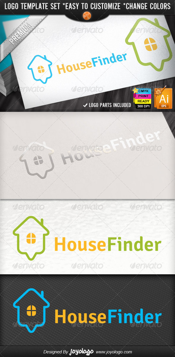 Online Home Search Map Pointer House Finder Logo - Buildings Logo Templates