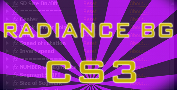 After Effects Project - VideoHive Radiance BG CS3 91928