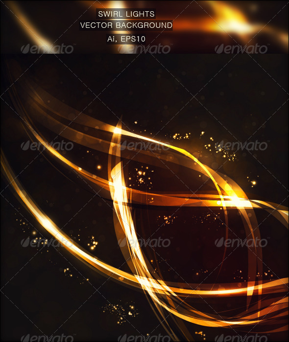 Swirl Lights Vector Background