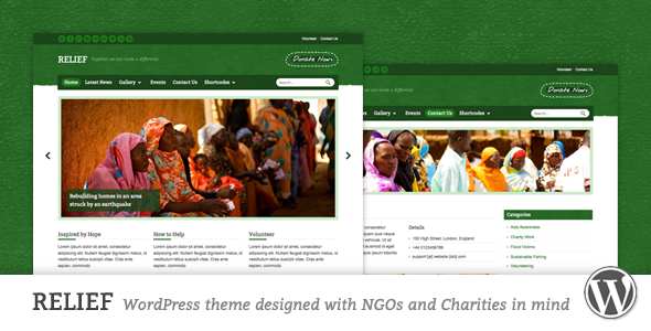 Relief - Charity Responsive WordPress Theme - Charity Nonprofit