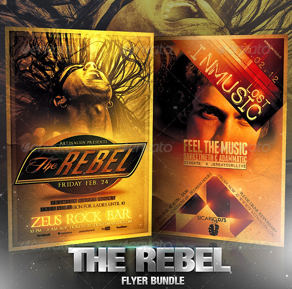 GraphicRiver The Rebel Flyer Bundle 2519579