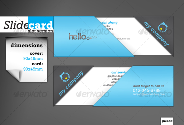 SlideCard-SlotVersion - Creative Business Cards