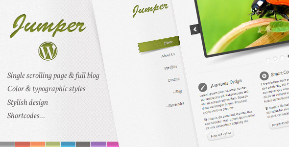 ThemeForest Jumper WP one page theme 1099587