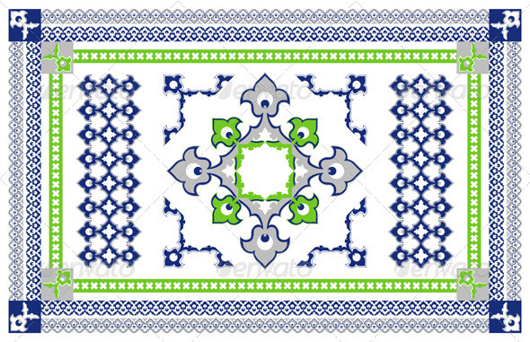 Arabic Style Carpet Design - Flourishes / Swirls Decorative