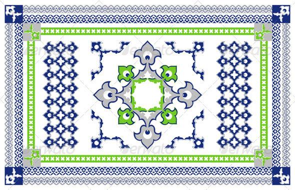 Arabic Style Carpet Design - Flourishes / Swirls Decorative