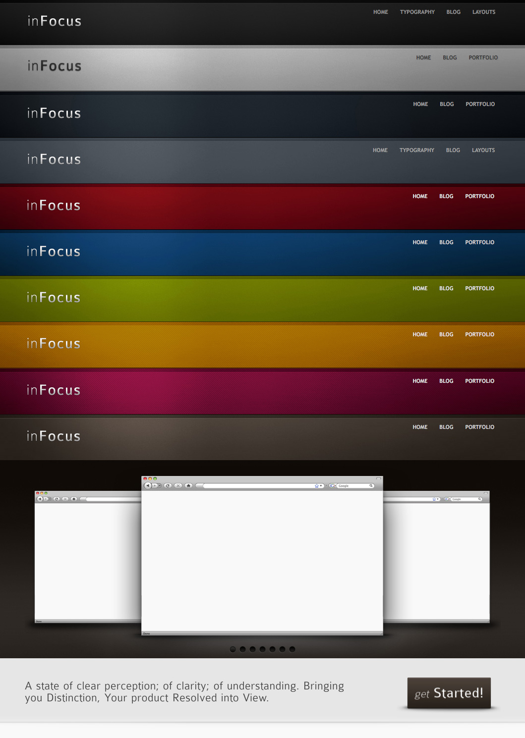 inFocus - Powerful Professional HTML CSS Theme