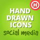 60 Hand Drawn Social Icons - GraphicRiver Item for Sale