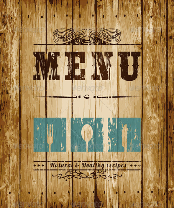 Decorative Menu card Vector Illustration