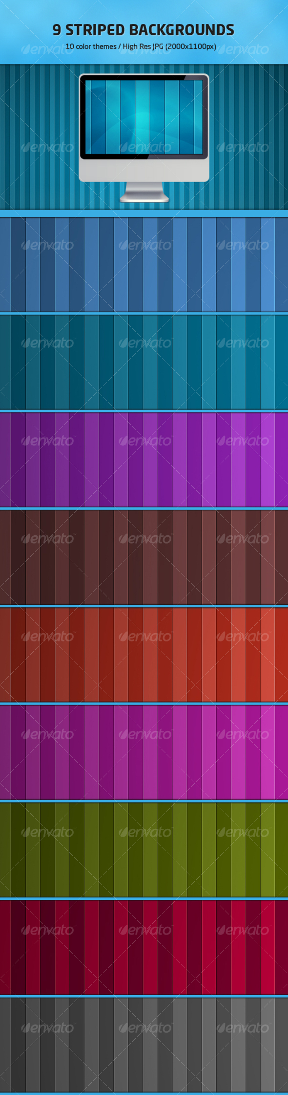 GraphicRiver 9 Striped Backgrounds 92101