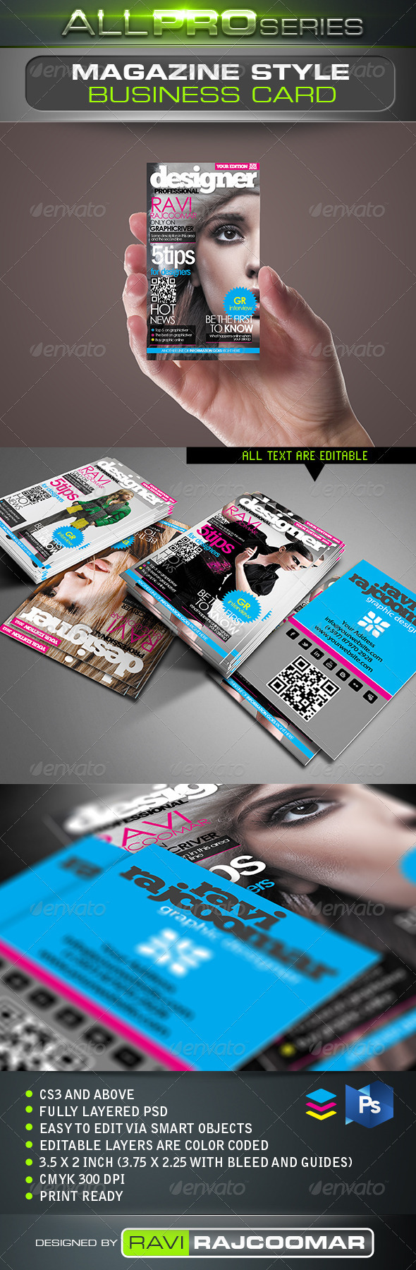 GraphicRiver Magazine Style Business Card 2523083