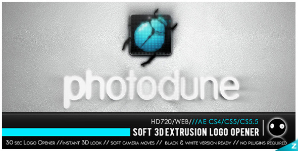 VideoHive Soft 3D xtrusion Logo Close up 2450984