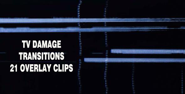 VideoHive TV Damage Transitions Pack 2523222