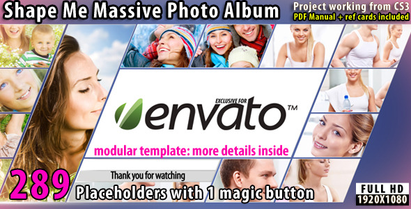 [VideoHive 2523259] Shape Me Massive Photo Album | After Effects Project