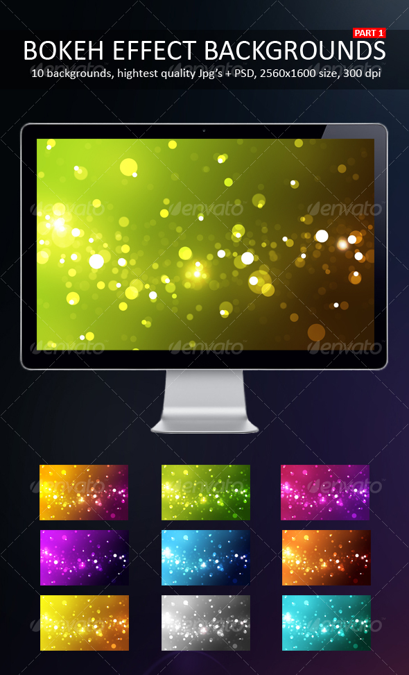 GraphicRiver Bokeh Effect Backgrounds Part 1 92187