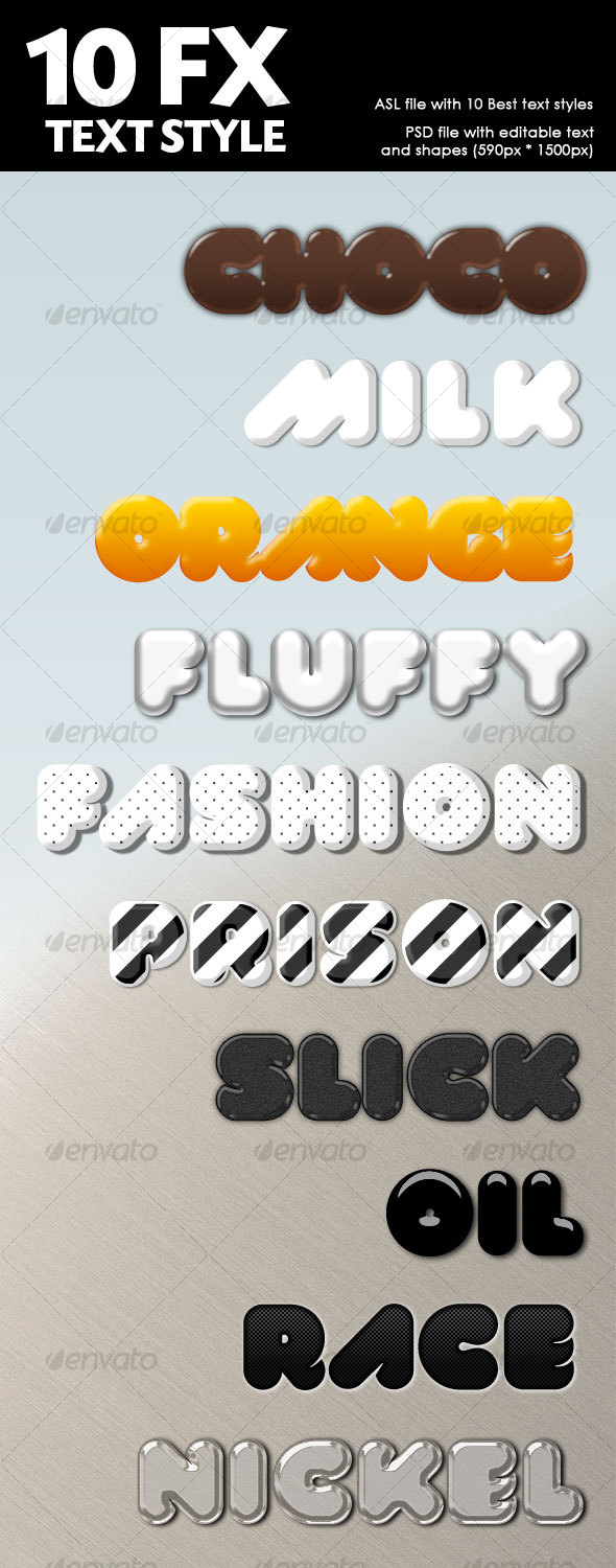 10 Delicious Text Effects  - Text Effects Styles