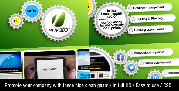 After Effects Project - VideoHive Clean Gear Company Promotion 2526856