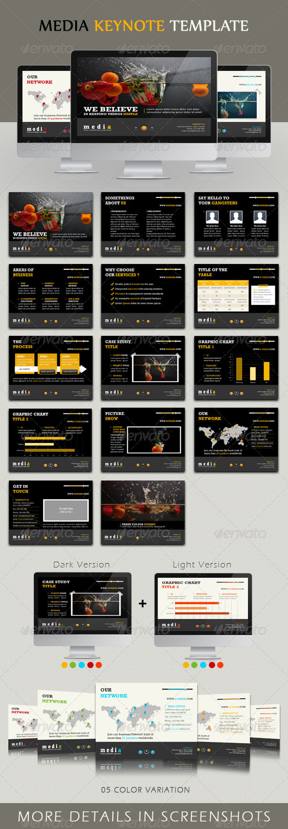Media Keynote Template - Keynote Templates Presentation Templates