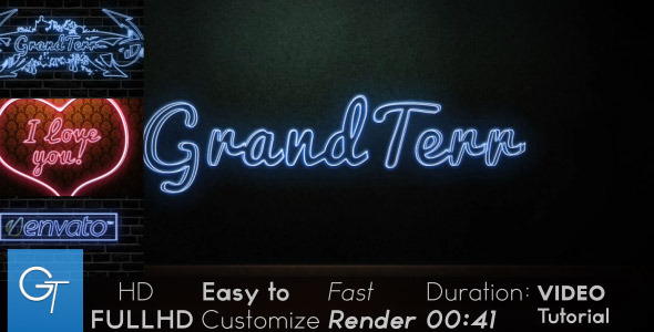 After Effects Project - VideoHive Neon 2527950
