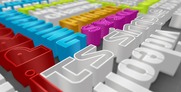 After Effects Project - VideoHive Colorful 3D Typography 2527967