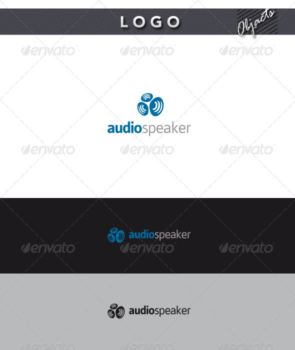 Audio Speaker Logo - Objects Logo Templates