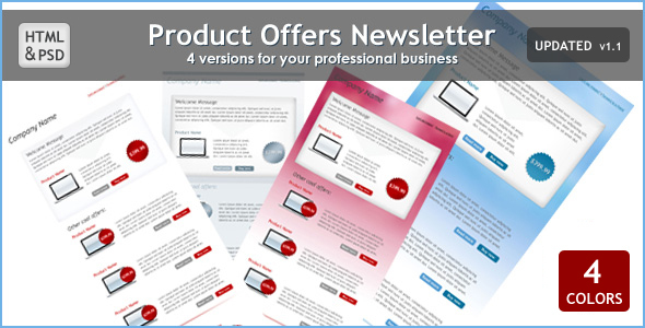 ThemeForest Product Offers Newsletter 88310
